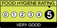 Food hygiene rating 5 (five)